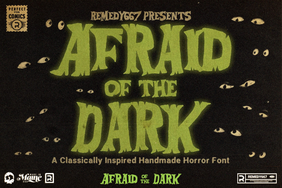 Afraid of the Dark - A Classically Inspired Handmade Horror Font from Remedy667