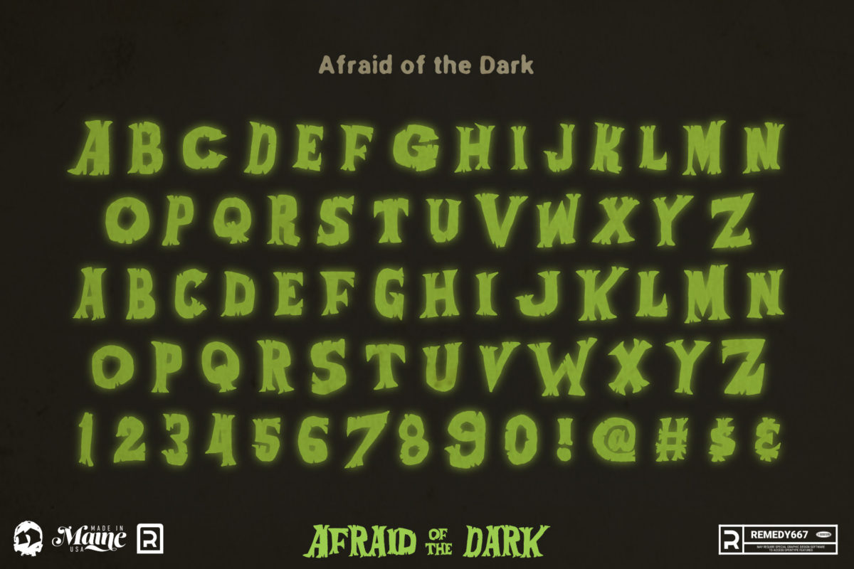 Afraid of the Dark - Alphabet
