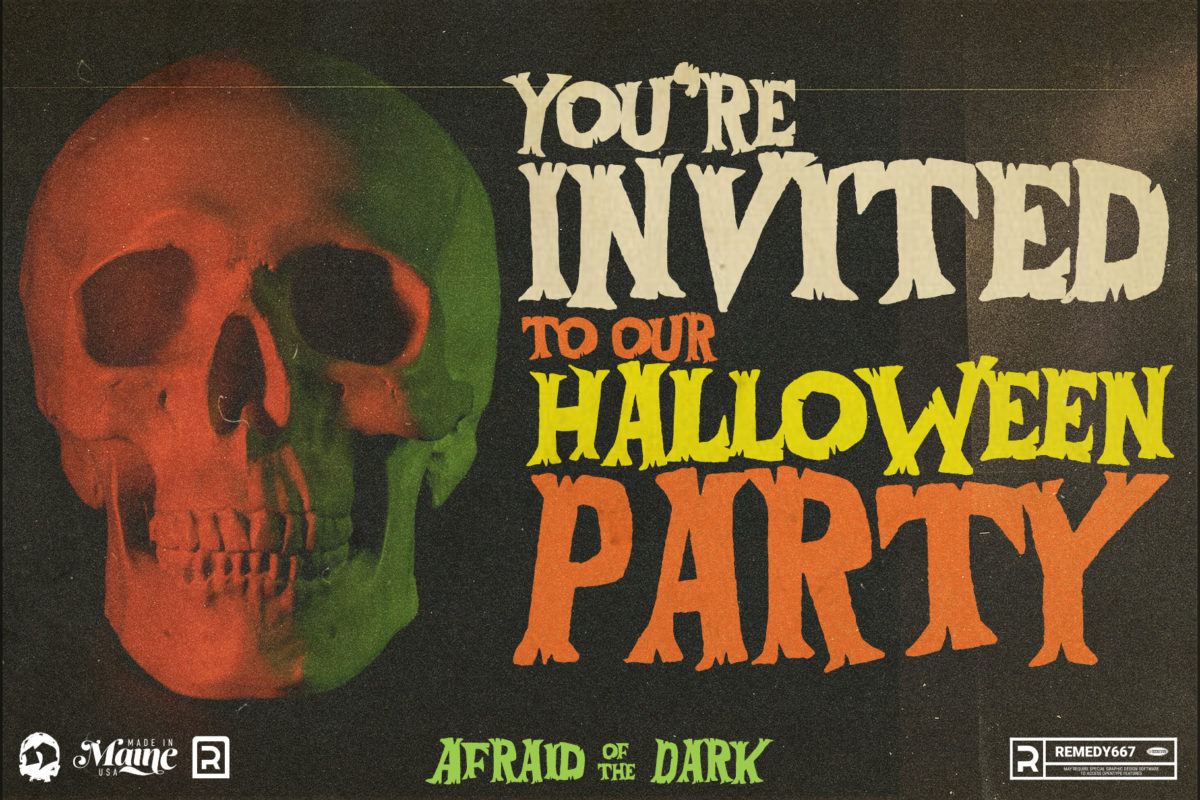 Afraid of the Dark - You're Invited to our Halloween Party