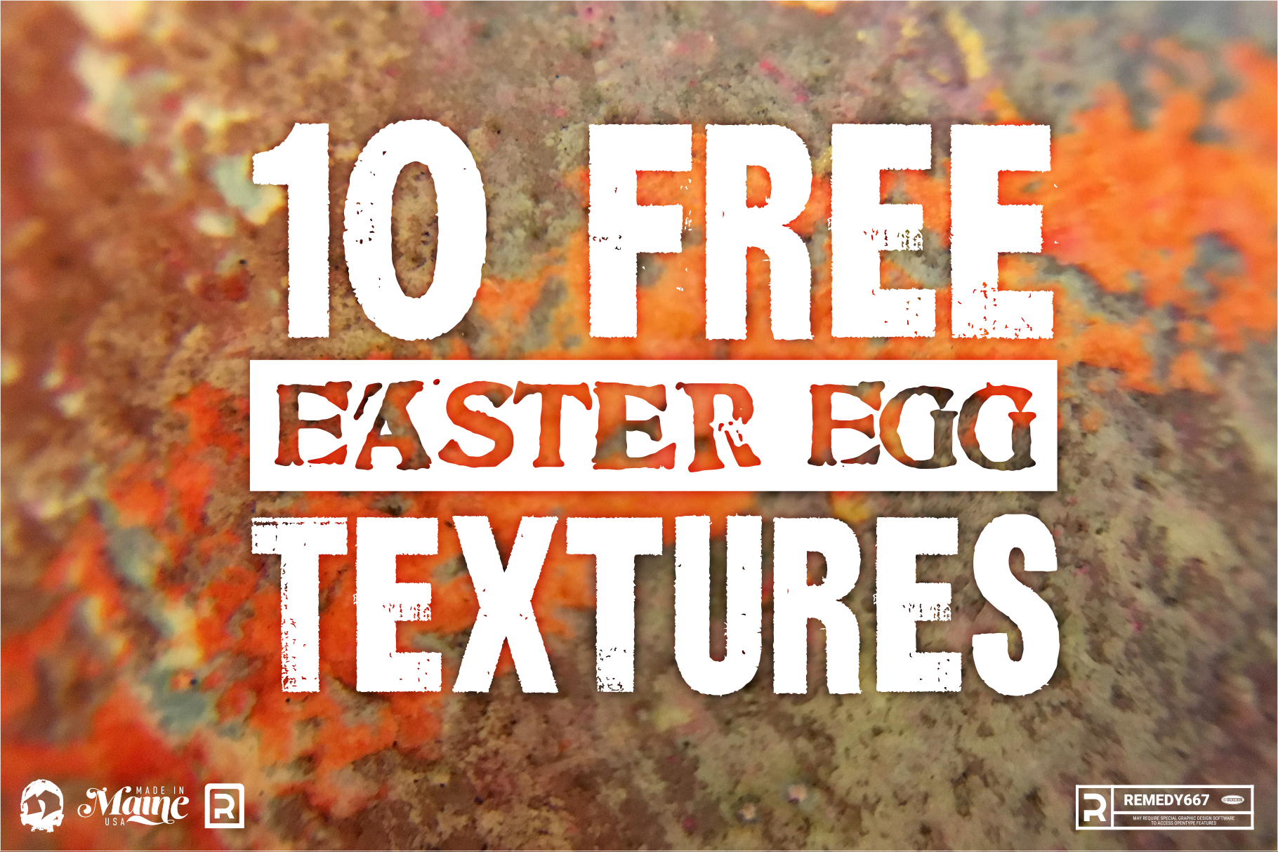 Ten FREE Easter Egg Textures