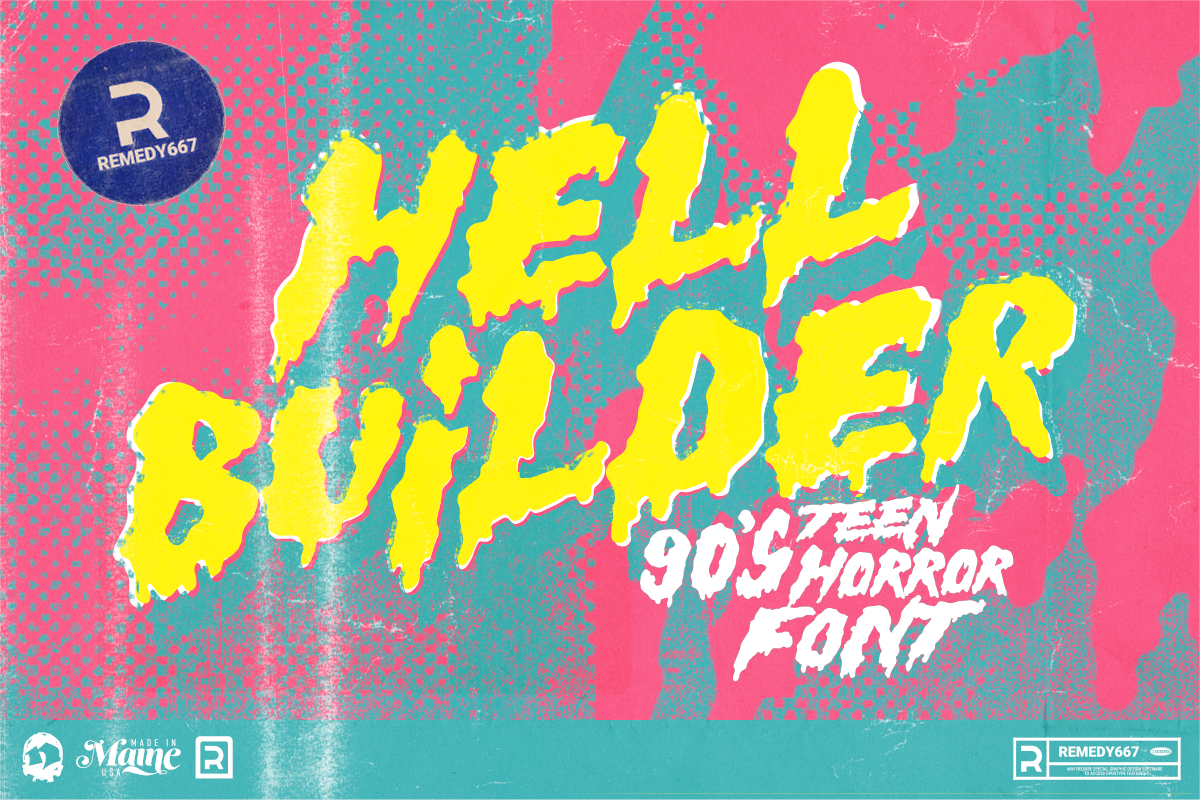 Hell Builder - 90's Teen Horror Font from Remedy667