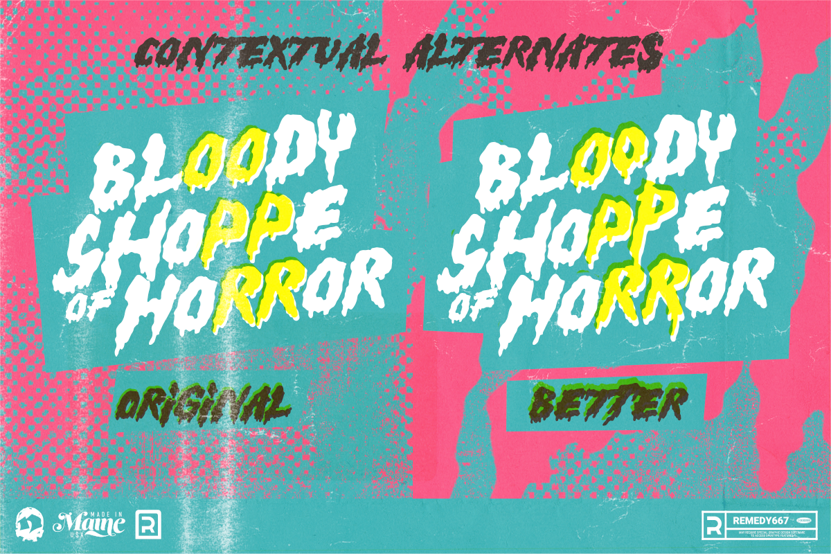 Hell Builder - 90's Teen Horror Font - Contextual Alternates