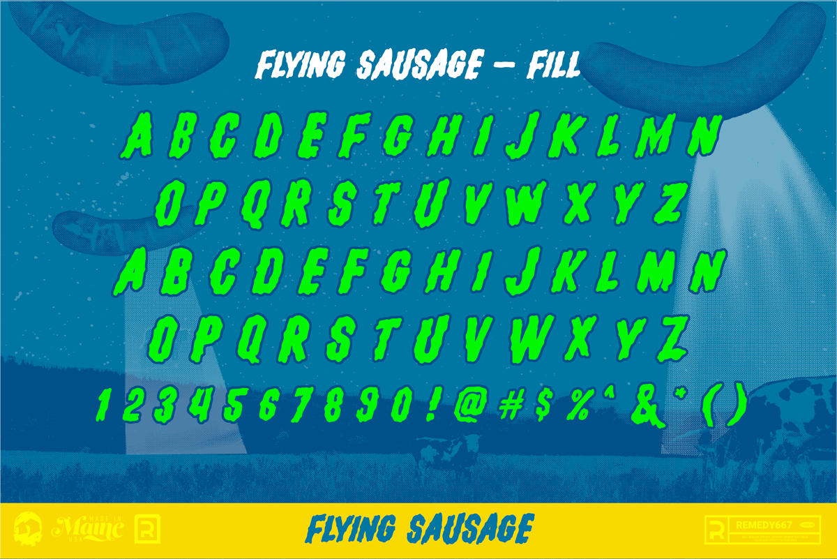 Flying Sausage - Alphabet