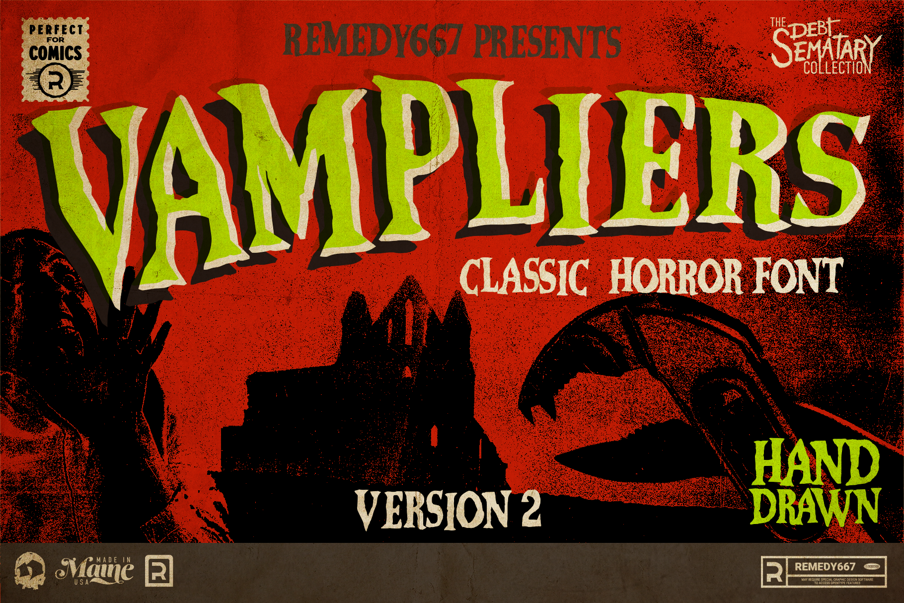 Vampliers - Classic Horror Font from Remedy667