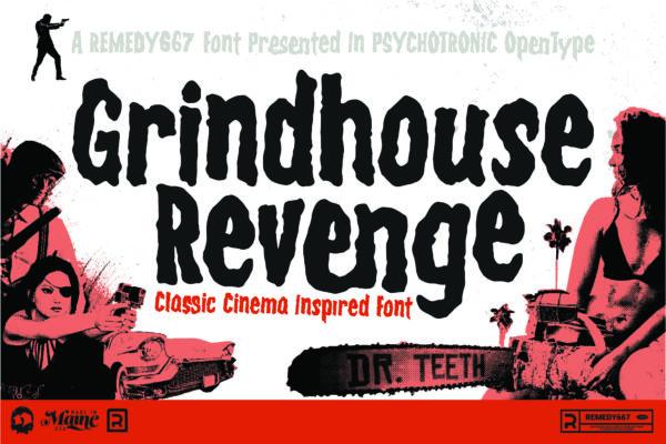 31 Days of Horror Fonts 2020 Winner - Grindhouse Revenge