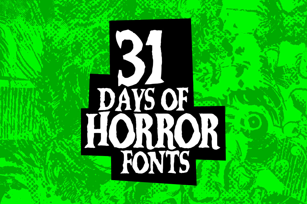 31 Days of Horror Fonts